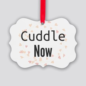 Cuddle Now Picture Ornament