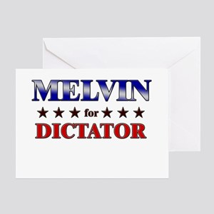MELVIN for dictator Greeting Card