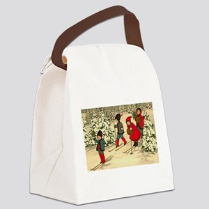 Little Skiiers Canvas Lunch Bag