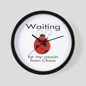 Waiting Cousin Wall Clock