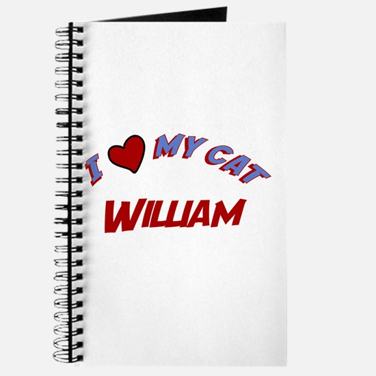 I Love My Cat William Journal