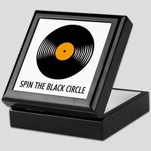 Spin the Black Circle Keepsake Box