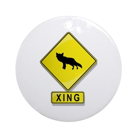 Fox XING Ornament (Round)