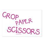 Pink Crop Paper Scissors Postcards (Package of 8)