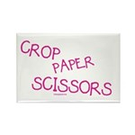 Pink Crop Paper Scissors Rectangle Magnet (100 pac