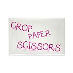Pink Crop Paper Scissors Rectangle Magnet (10 pack