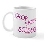 Pink Crop Paper Scissors Mug