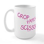 Pink Crop Paper Scissors Large Mug