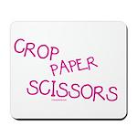 Pink Crop Paper Scissors Mousepad