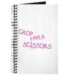 Pink Crop Paper Scissors Journal