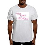 Pink Crop Paper Scissors Light T-Shirt