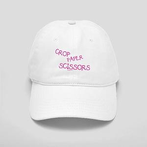 Pink Crop Paper Scissors Cap