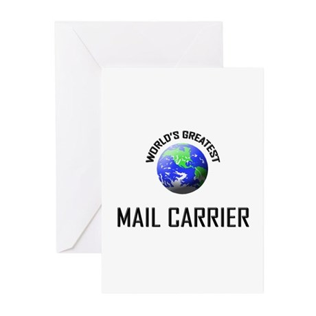 World's Greatest MAIL CARRIER Greeting Cards (Pk o