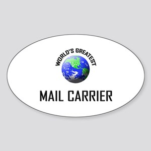 World's Greatest MAIL CARRIER Oval Sticker