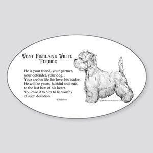 Westhighland Terrier Devotion Oval Sticker