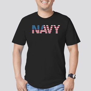Navy Flag Men's Fitted T-Shirt (dark)