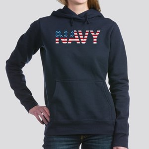 Navy Flag Women's Hooded Sweatshirt