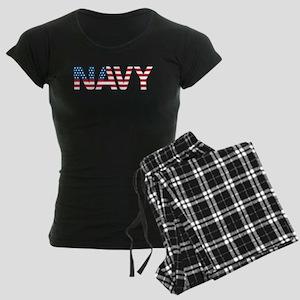 Navy Flag Women's Dark Pajamas