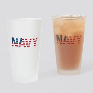Navy Flag Drinking Glass