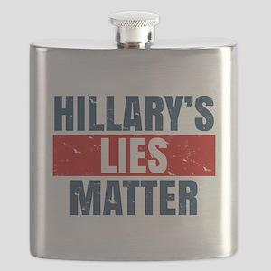 Hillary's Lies Matter Flask