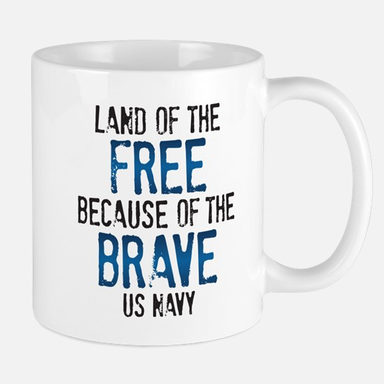Land of the Free US Navy Mug