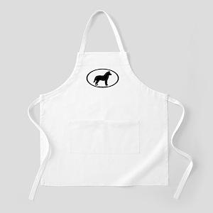 Siberian Husky Dog Oval BBQ Apron