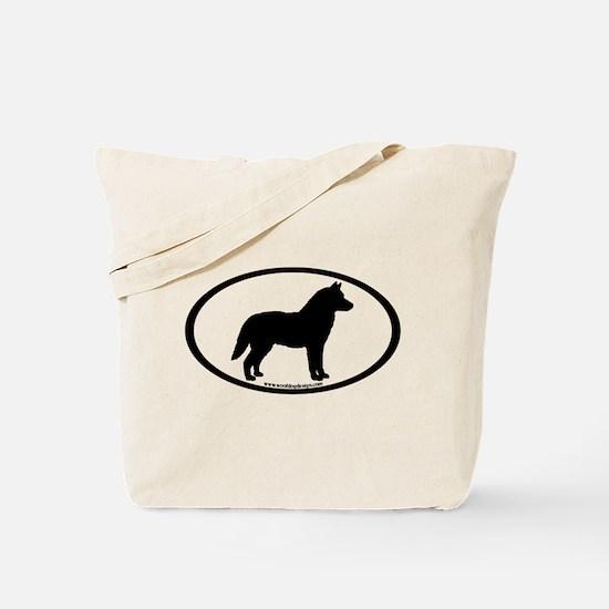 Siberian Husky Dog Oval Tote Bag