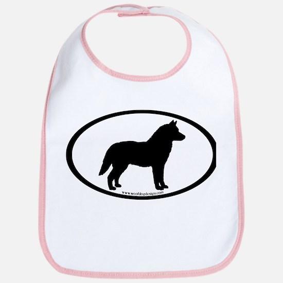 Siberian Husky Dog Oval Bib