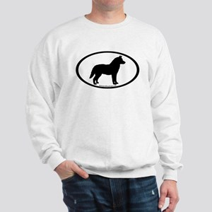 Siberian Husky Dog Oval Sweatshirt