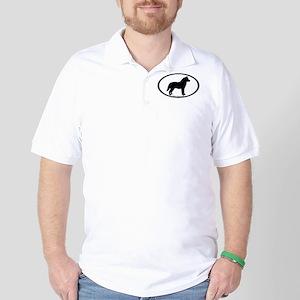 Siberian Husky Dog Oval Golf Shirt