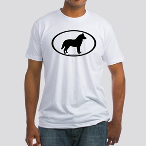 Siberian Husky Dog Oval Fitted T-Shirt
