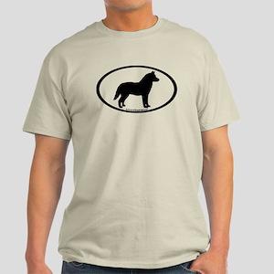 Siberian Husky Dog Oval Light T-Shirt