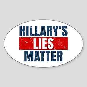 Hillary's Lies Matter Sticker