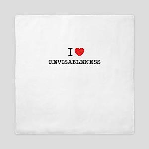 I Love REVISABLENESS Queen Duvet