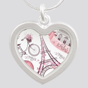 Paris Silver Heart Necklace