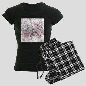 Paris Women's Dark Pajamas