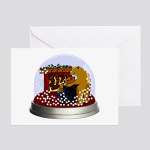 Snow Globe Bears Greeting Card