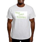 Green Crop Paper Scissors Light T-Shirt