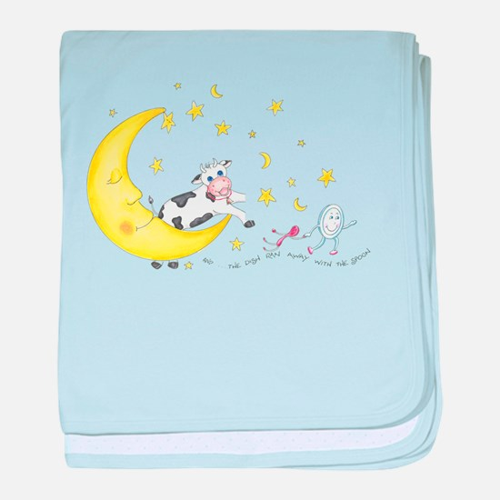 Cow Jumped Over The Moon T Shirt baby blanket