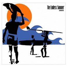 Endless Summer Surfer Wall Art Poster