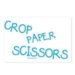 Blue Crop Paper Scissors Postcards (Package of 8)