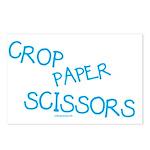 Blue Crop Paper Scissors Postcards (Package of 8)
