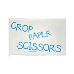 Blue Crop Paper Scissors Rectangle Magnet (100 pac