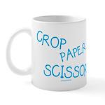 Blue Crop Paper Scissors Mug