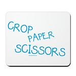 Blue Crop Paper Scissors Mousepad