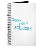 Blue Crop Paper Scissors Journal