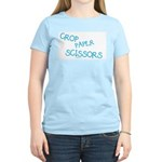 Blue Crop Paper Scissors Women's Light T-Shirt