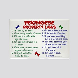 Pekingese Property Laws 2 Rectangle Magnet