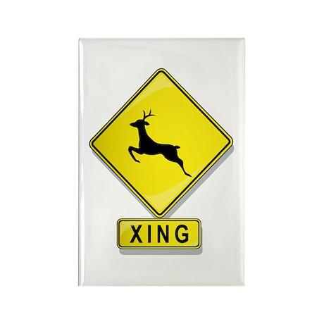 Deer XING Rectangle Magnet
