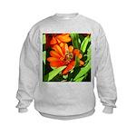 Bee on Orange Daisy Sweatshirt